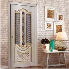 Межкомнатные эмалированные двери с 3D фрезеровкой Дизайн двери Классика