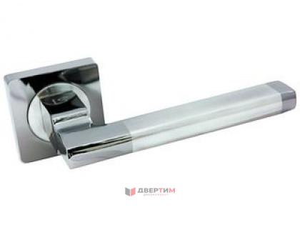 Ручка дверная МЕРАНО BN/SN черный никель/матовый никель