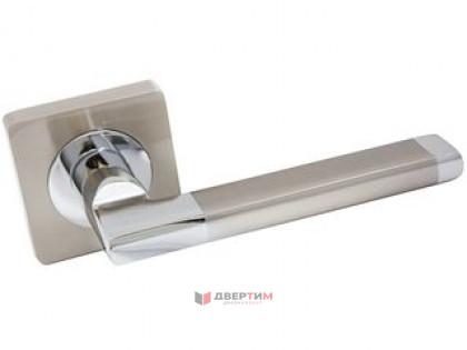 Ручка дверная МЕРАНО SN/CP матовый никель/хром