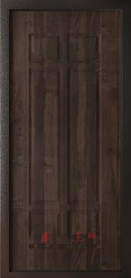 Входная дверь Леон 9,5 Черный шелк ФЛ-1 Дуб мокко