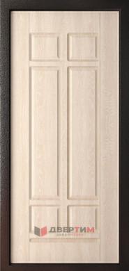 Входная дверь Леон 9,5 Черный шелк ФЛ-1 Дуб филадельфия крем