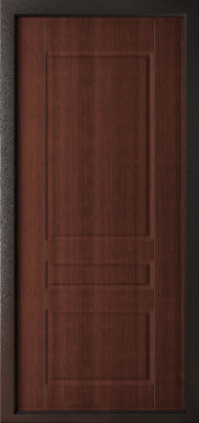 Входная дверь Леон 9,5 Черный шелк ФЛ-5 Орех бренди