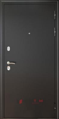 Входная дверь Леон 9,5 Антик серебро ФЛ-6 Лофт белый