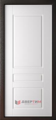 Входная дверь Аляска Коричневый молоток ФЛ-5 Белый матовый